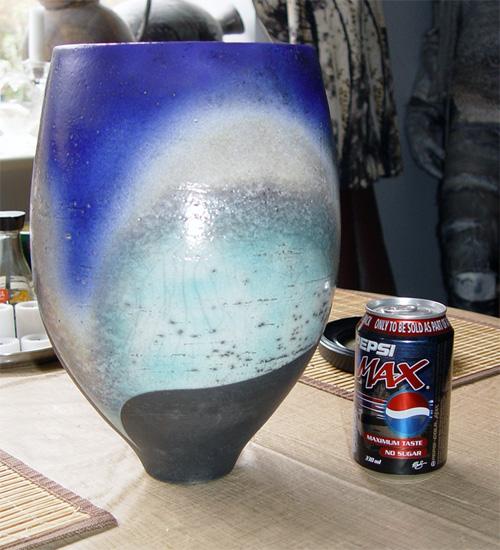 Large Raku Vase by David Jones