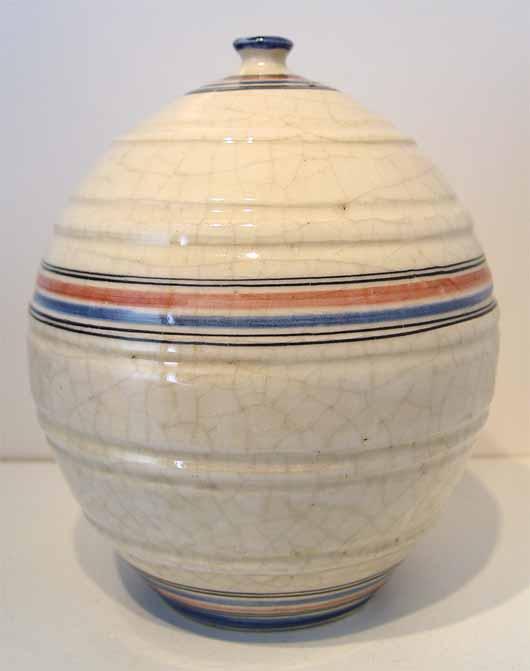 French Art Deco Crackle Glaze Vase