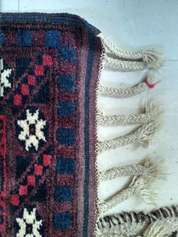 Afghan Rug Fringe, Plaited