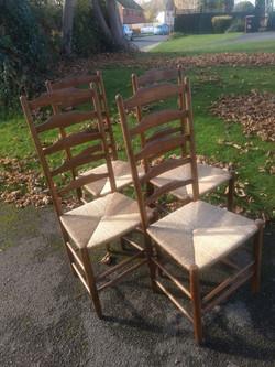 4 Gimson Ladderback chairs