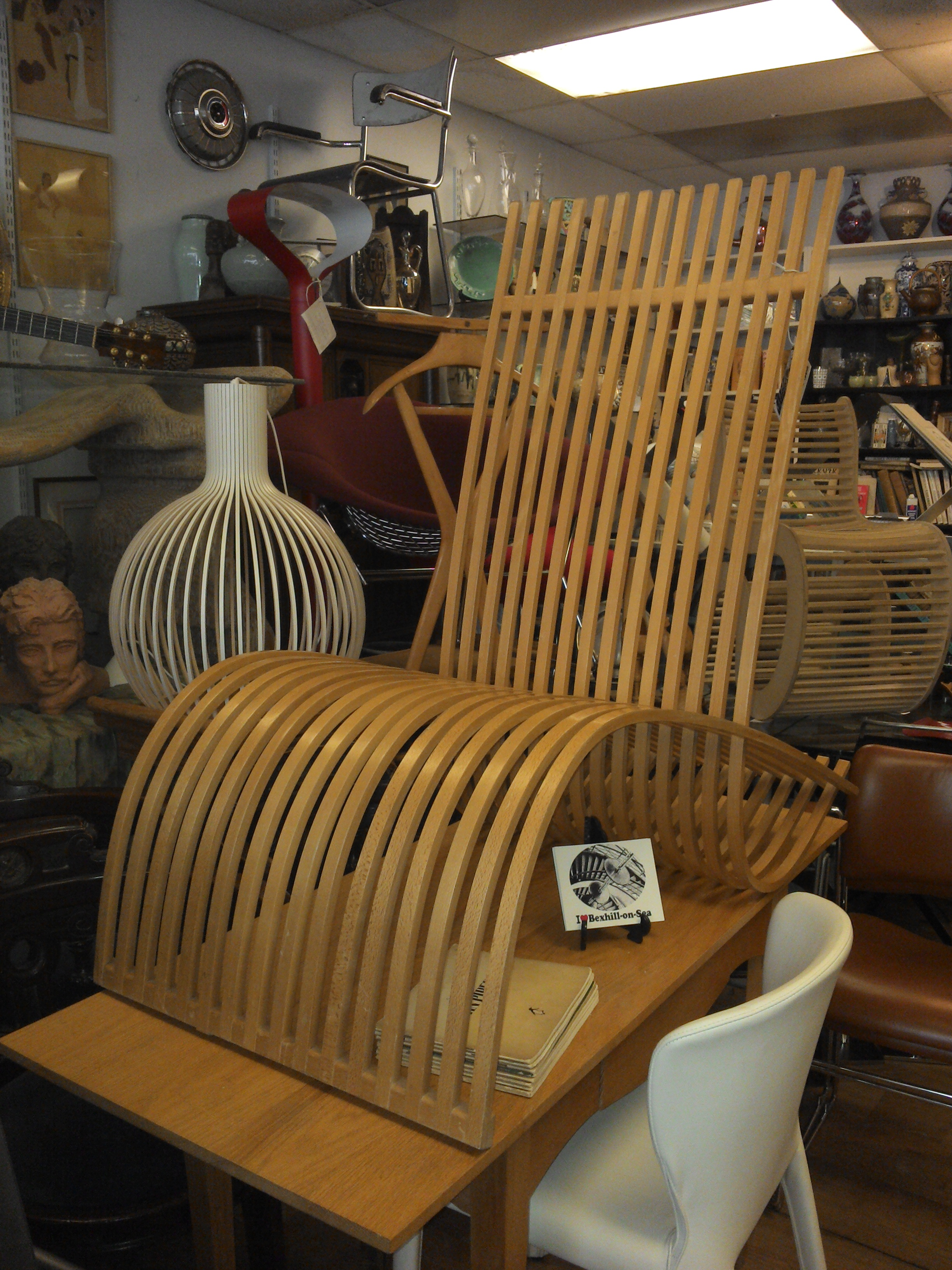 Beech Strip Chair