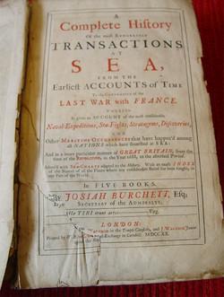 Josiah Burchett 1720 Ist Ed.