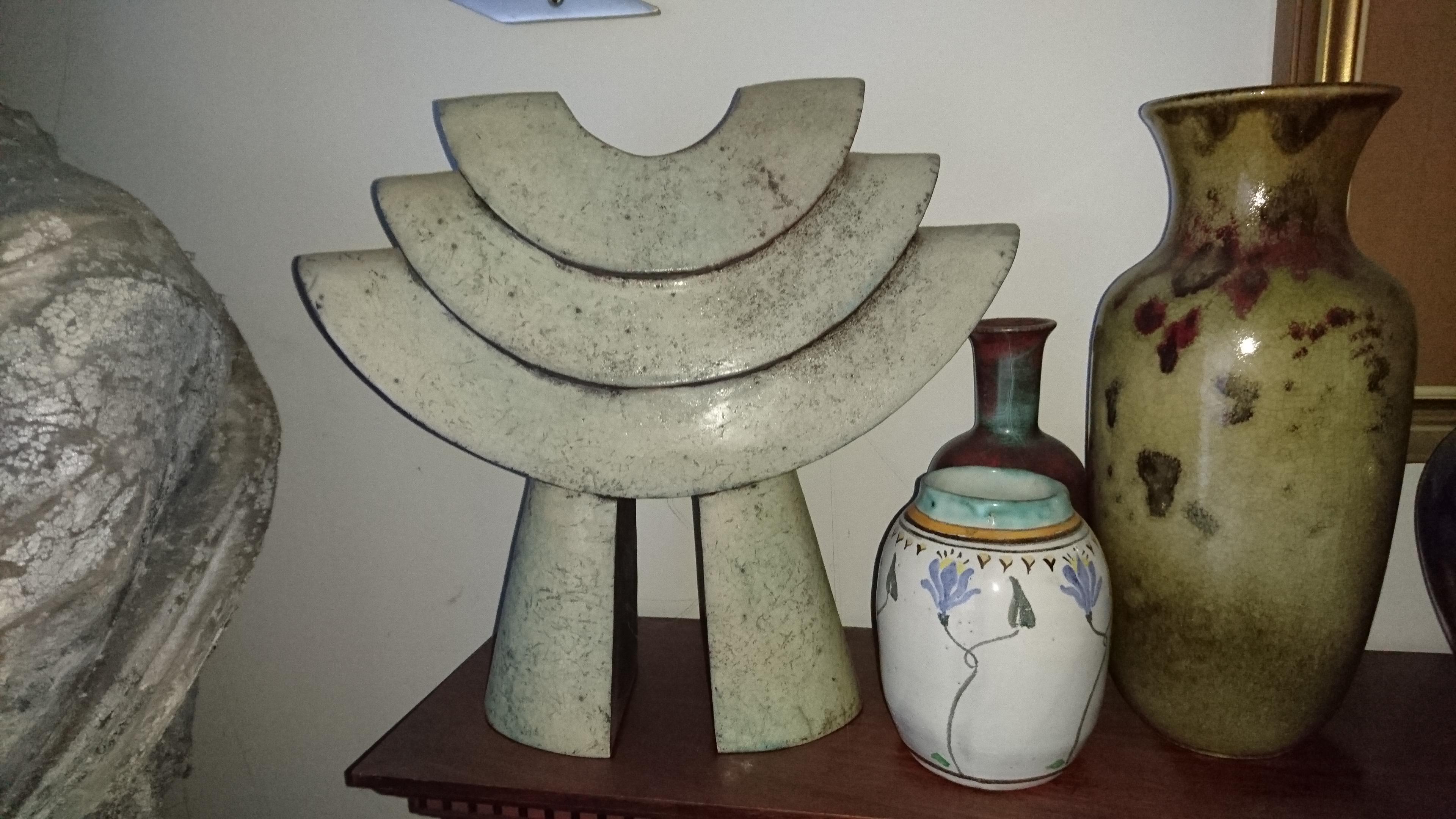 Helen Van Dongen Raku Sculpture