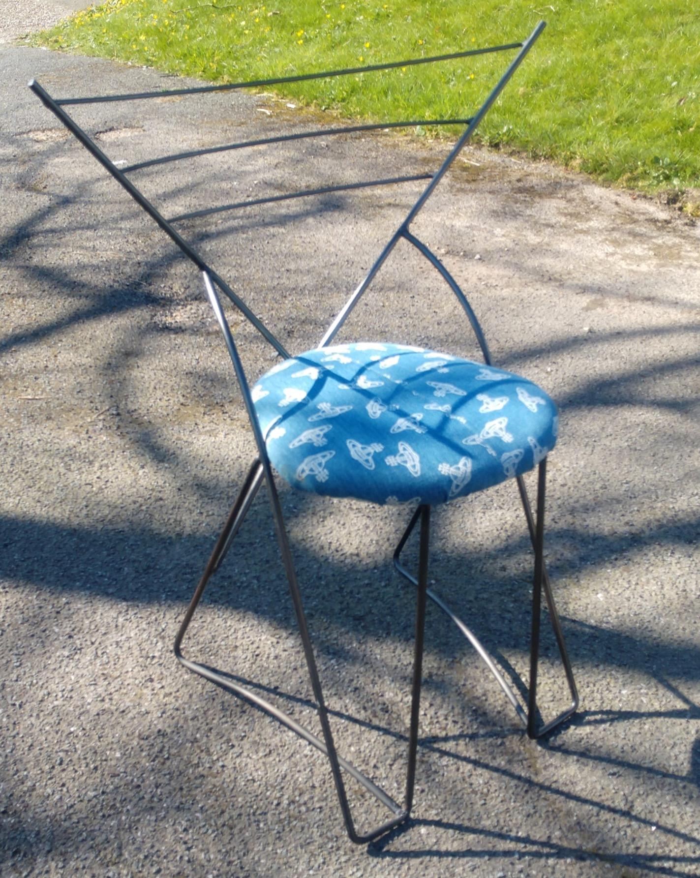 Postmodern Wrought Iron Chair
