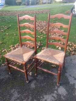 Arts and Crafts Ladderback Chairs