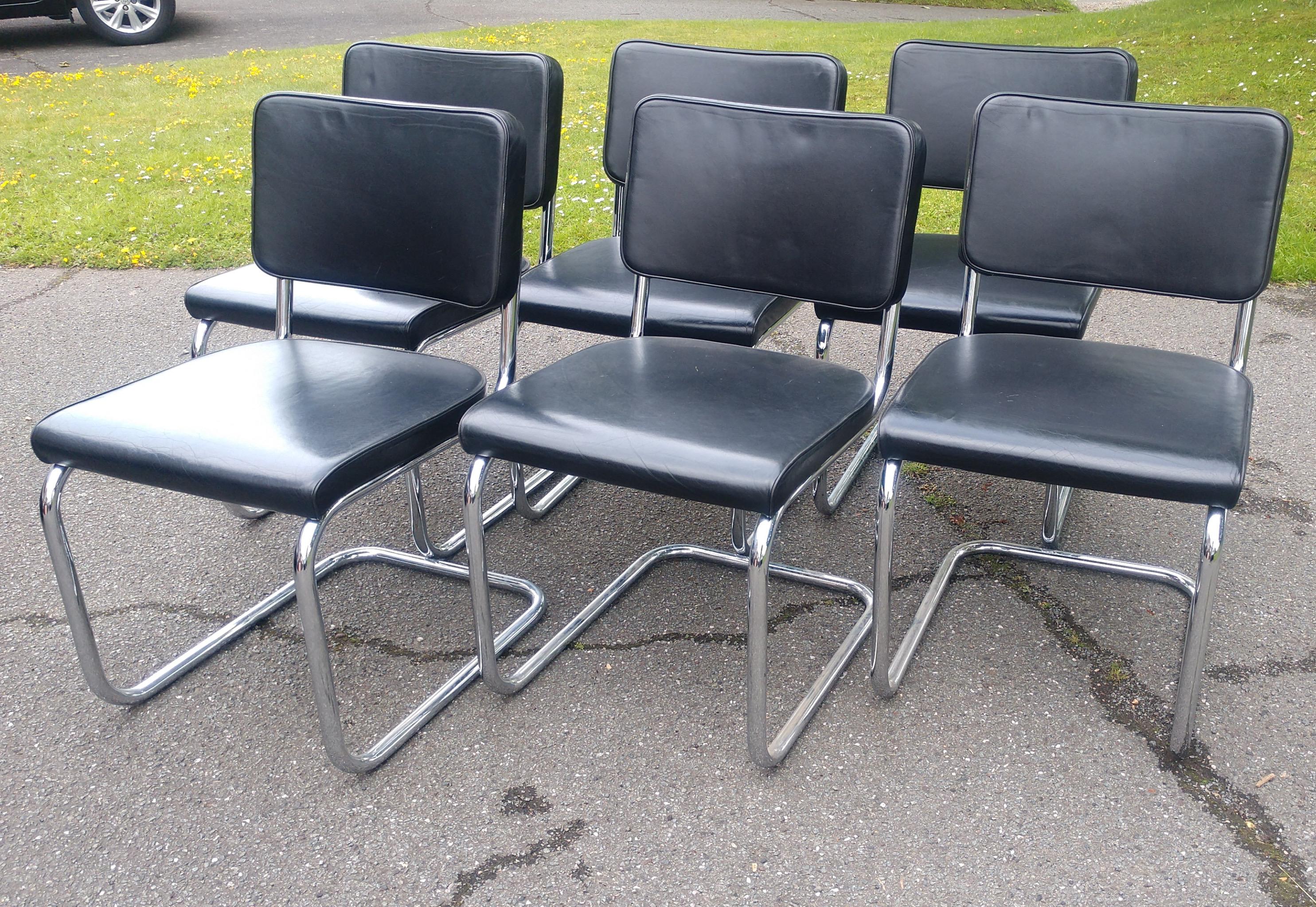 Set of Six Thonet S32PV