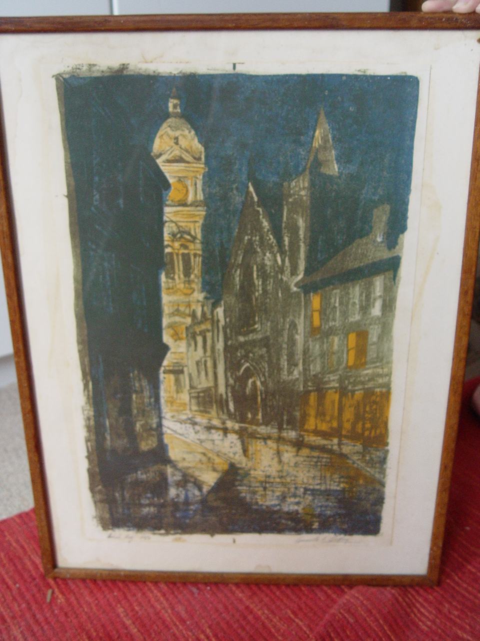 Eastbourne Town Hall Litho 1968