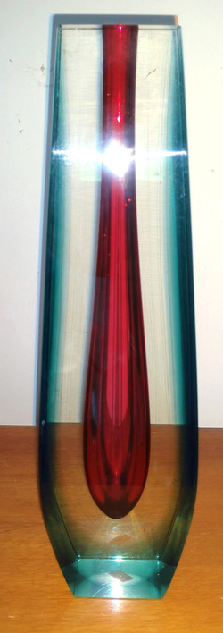 Pavel Hlava Glass Vase Ca. 1960