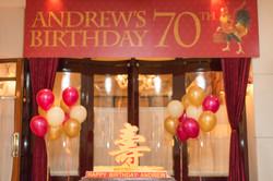 Andrew   70th birthday party