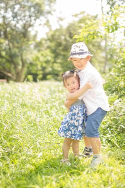 little Yasmine & Ayden   outdoor