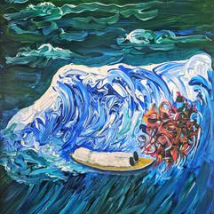 'Dead Body: Surfing in Trash Sea'