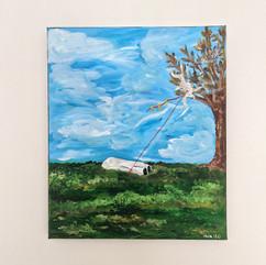 'Dead Body: Kite Gliding'