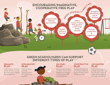 Green schoolyards encourage beneficial play