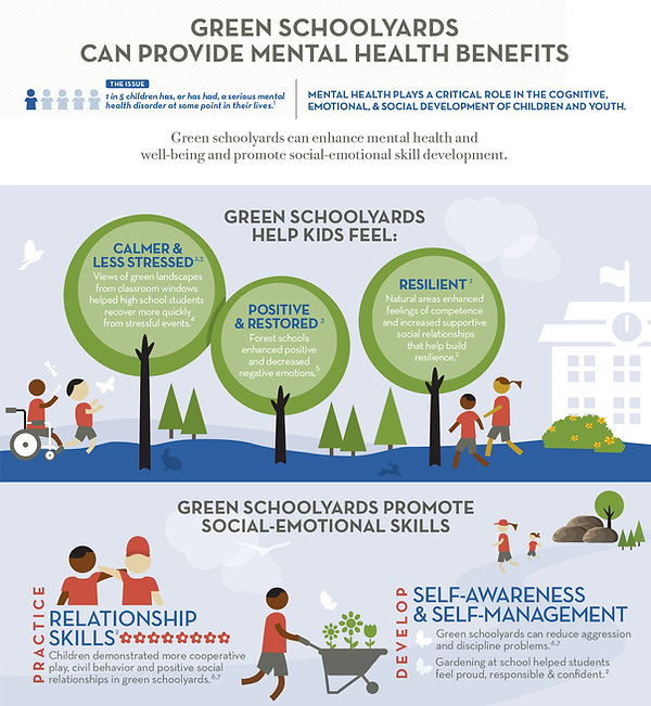 Green schoolyards can provide mental health benefits
