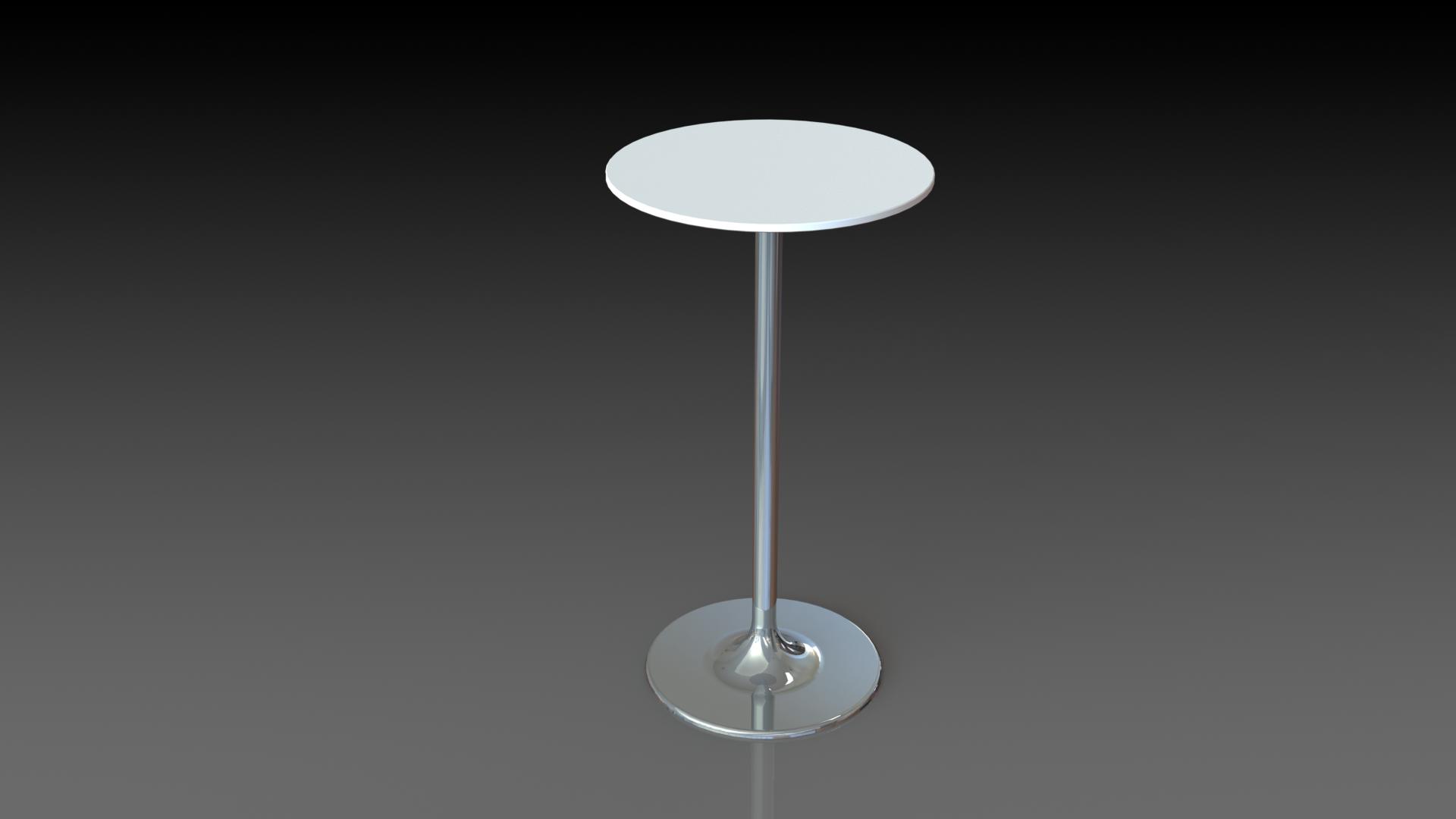 Ref: Mesa coctelera blanca