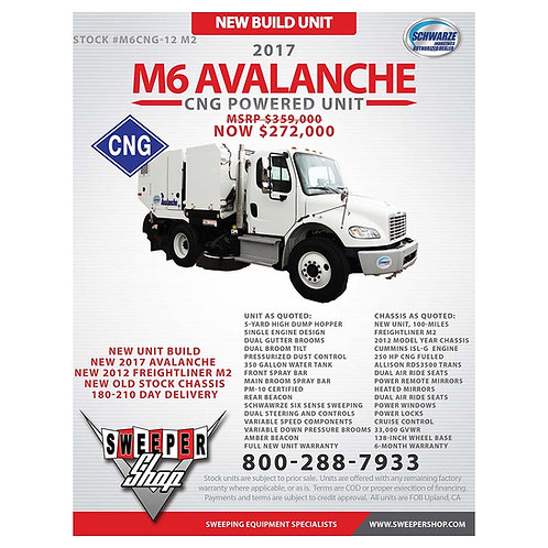 2017 Schwarze M6 Avalanche CNG