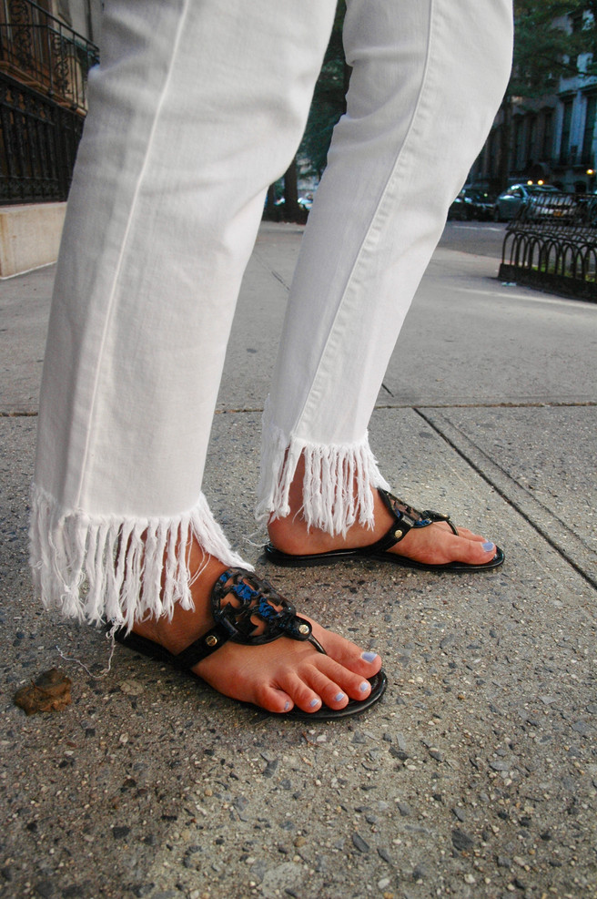 Latest obsession: Fringe Jeans
