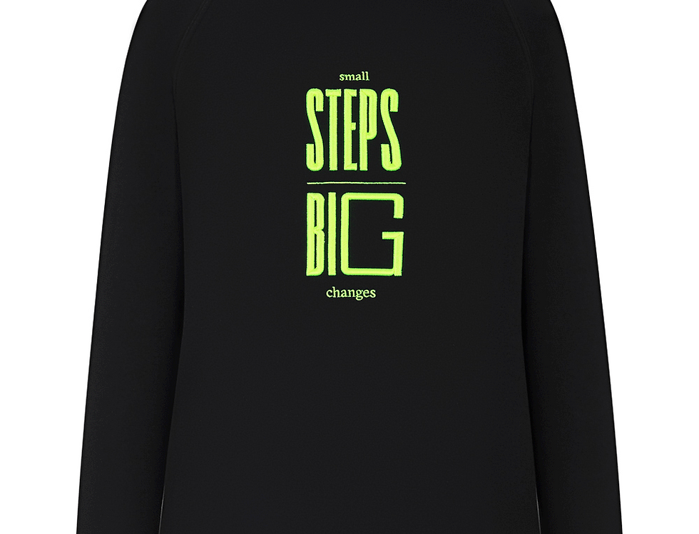 Embroidered Hoodie In Black (NEON)