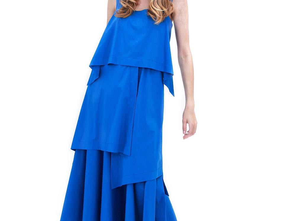 BRIGHT BLUE ROME DRESS DEAR FREEDOM