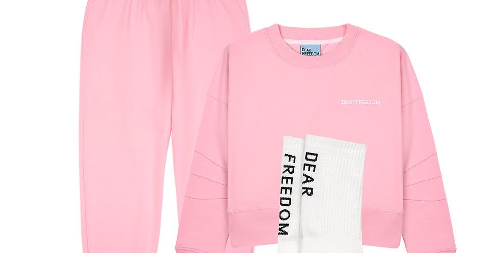 Pink Dear Freedom Cotton Combo