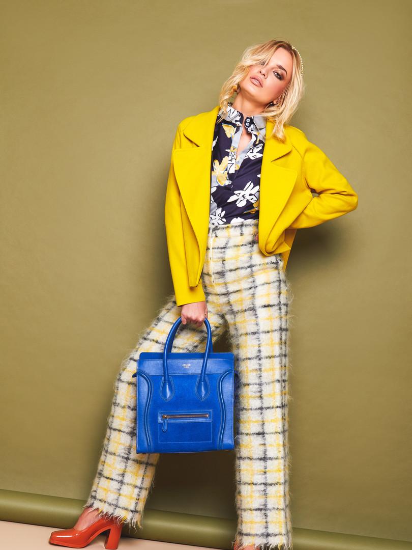 Yellow light wool jacket