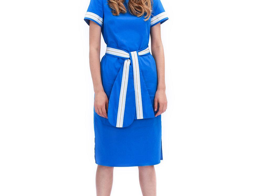 BRIGHT BLUE PARIS DRESS