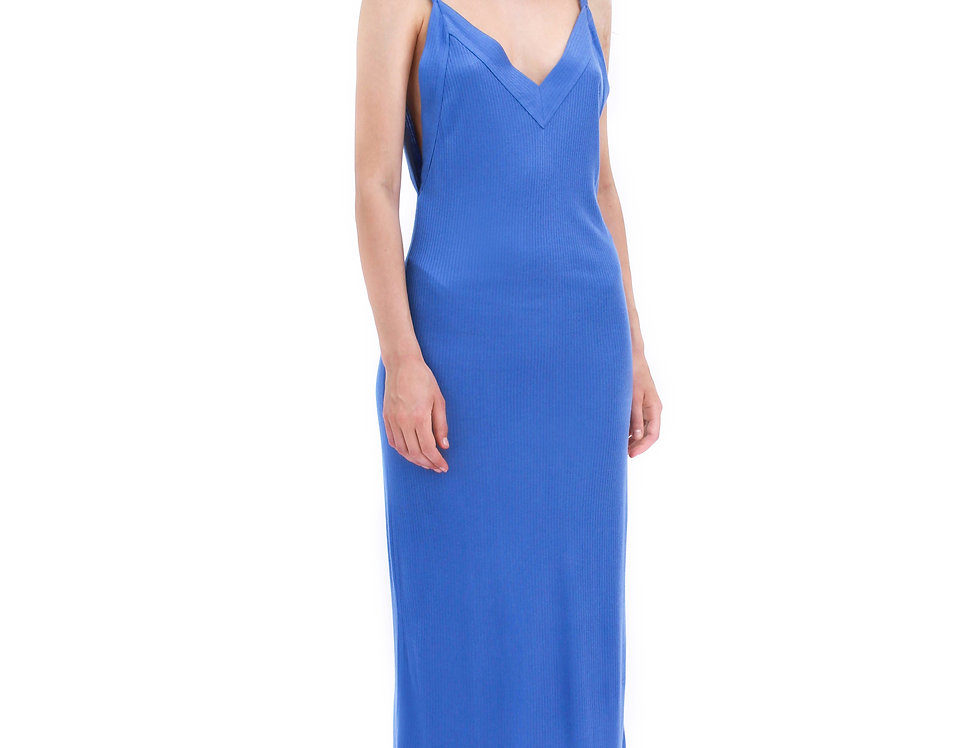 BLUE JERSAY SLIP DRESS DERA FREEDOM