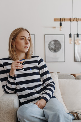 Dear Freedom French Striped Cotton Top