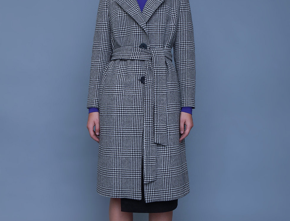 HOUNDSTOOTH COAT DEAR FREEDOM