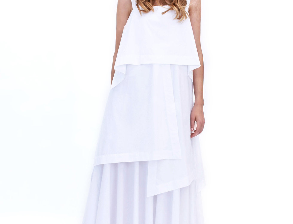 OPTIC WHITE ROME DRESS