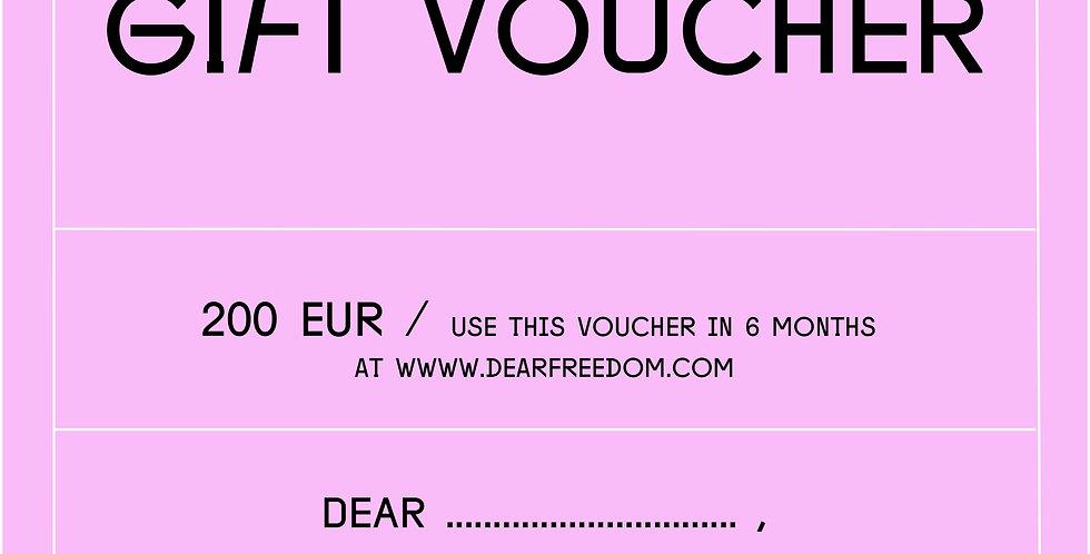GIFT VOUCHER 200 EUR