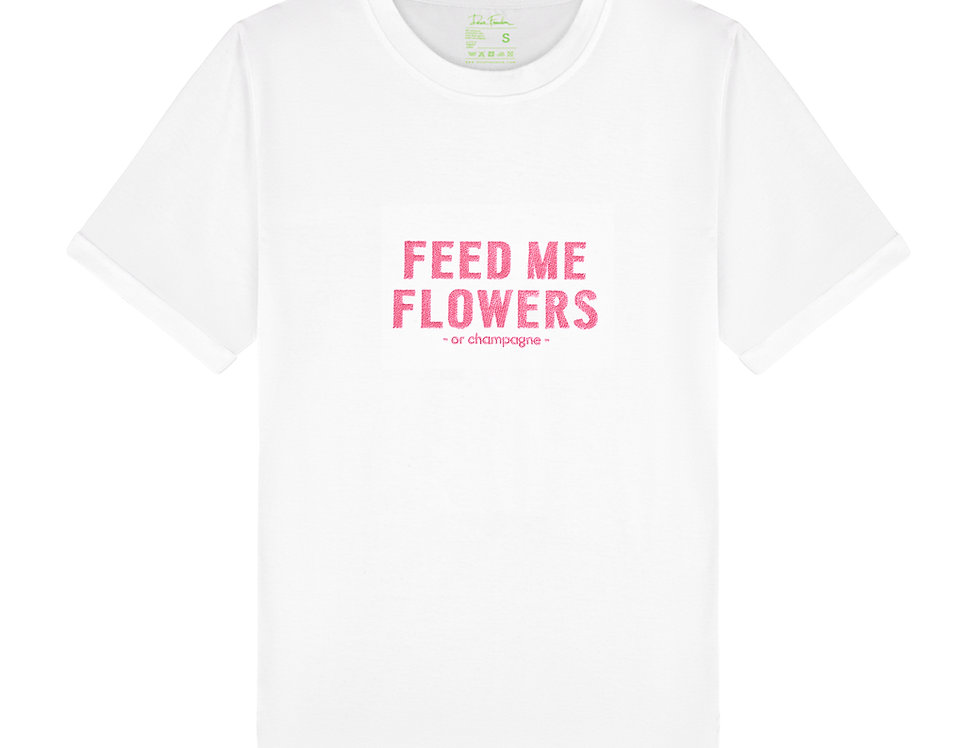 Dear Freedom Feed me flowers or champagne t-shirt