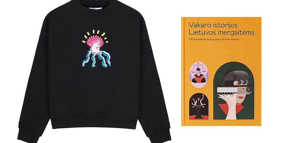 'Kids' džemperis su Migloko iliustracija + Knyga Dear Freedom