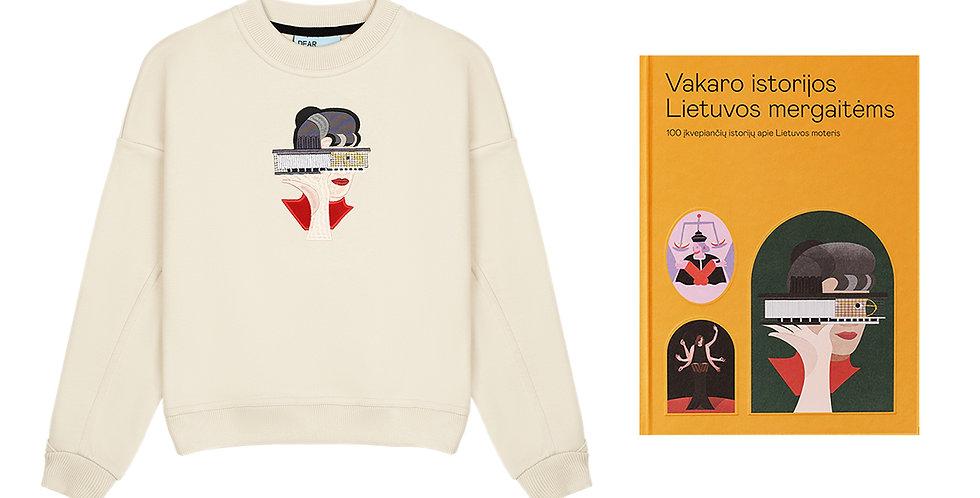 """Kids"" džemperis su Lina Disciplina iliustracija + Knyga"