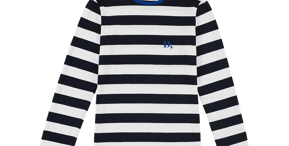 French striped cotton top