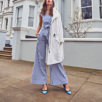Solstice mag_Striped jumpsuit Dear Freedom