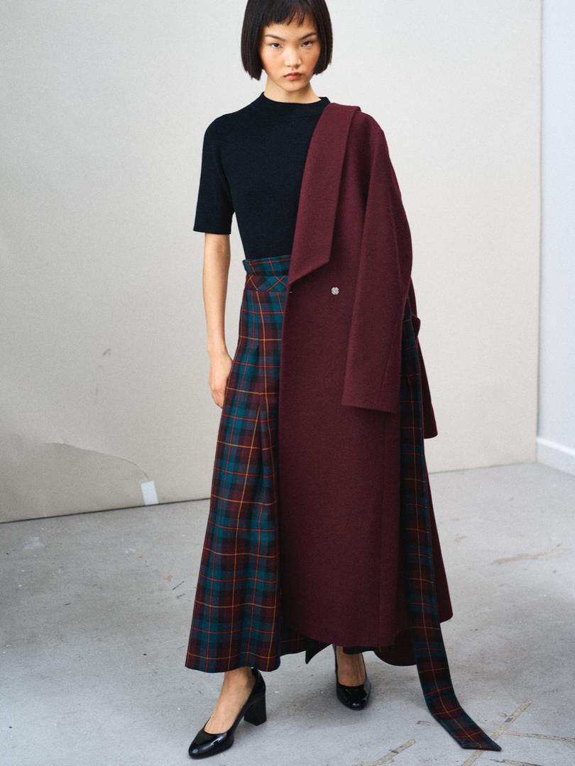 Cherry wool coat MARIKO