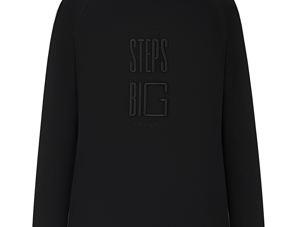 Embroidered Hoodie In Black (BLACK)