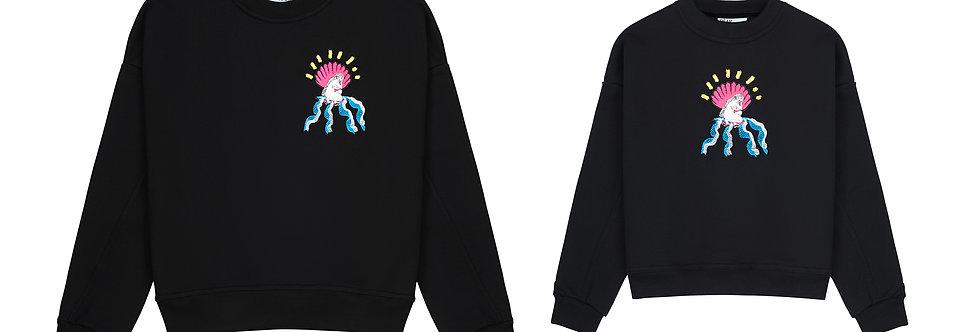'Mom & daugther' džemperiai su Migloko iliustracija
