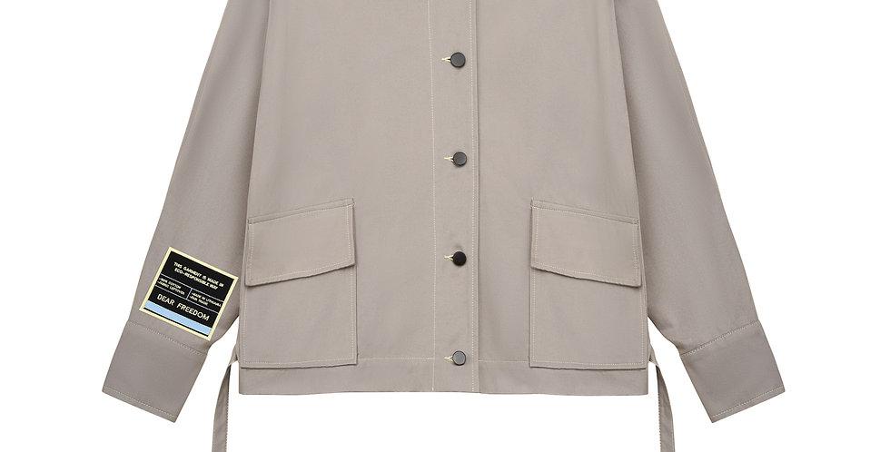 Oversized Grey Denim Jacket Dear Freedom