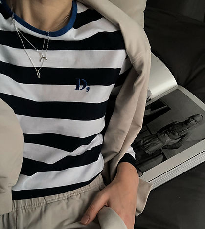 French Striped Cotton Top Dear Freedom