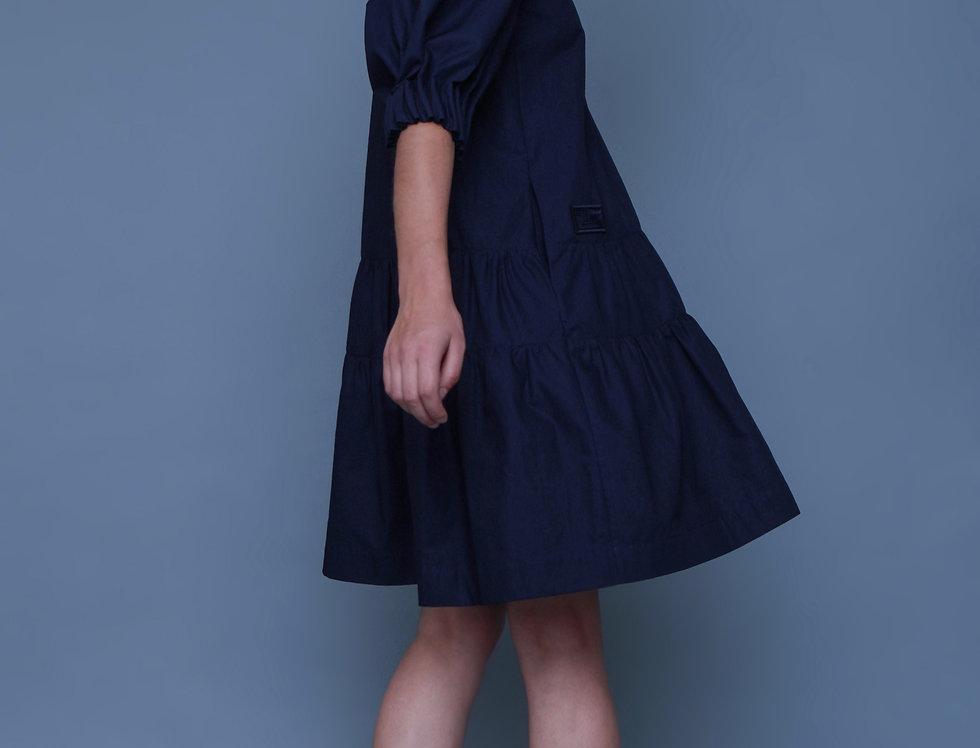 NAVY COTTON DRESS
