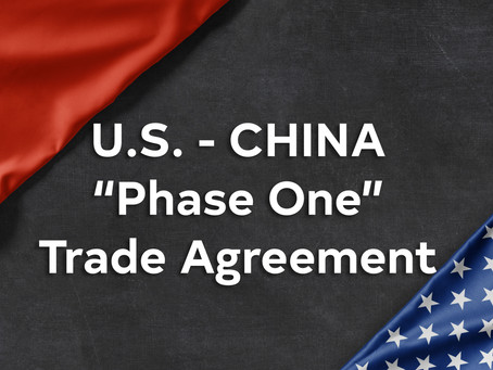 "U.S./China ""Phase One"" Trade Agreement"