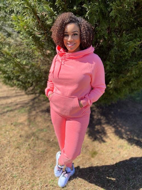 Keep it Sassy Sweatsuit Set - Pink
