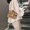 Thumbnail: Betty Shoulder Bag - Clear/Tan