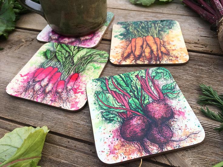 Vegetable Coasters