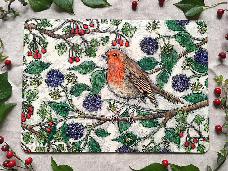 Autumn Robin Placemat