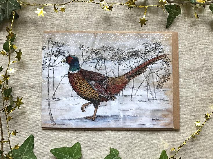 Winter Pheasant Card