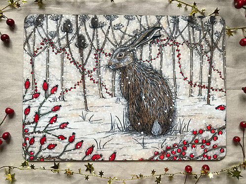 Winter Hedgerow Placemat