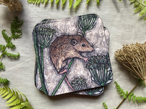 Harvest Mouse Coaster